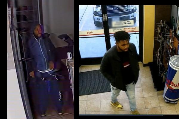 A la izquierda, el ladrón mientras robaba una casa. A la der. la misma persona, pero ingresando a una tienda cercana. FWPD