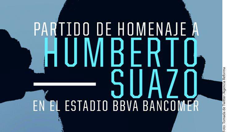 Los Rayados anunciaron hoy un partido de homenaje al ex delantero albiazul Humberto Suazo, ante el Herediano de Costa Rica el próximo 10 de julio en el BBVA./AGENCIA REFORMA