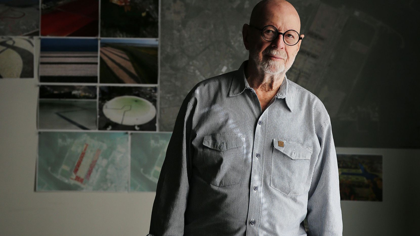 Landscape architect Peter Walker designed for the Nasher Sculpture Center, University of Texas at Dallas and Burnett Park in Fort Worth, among others in North Texas. He also designed the grounds for the National September 11 Memorial in New York City. Walker was photographed in his office in Berkeley, California Wednesday April 5, 2017. (Andy Jacobsohn/The Dallas Morning News)