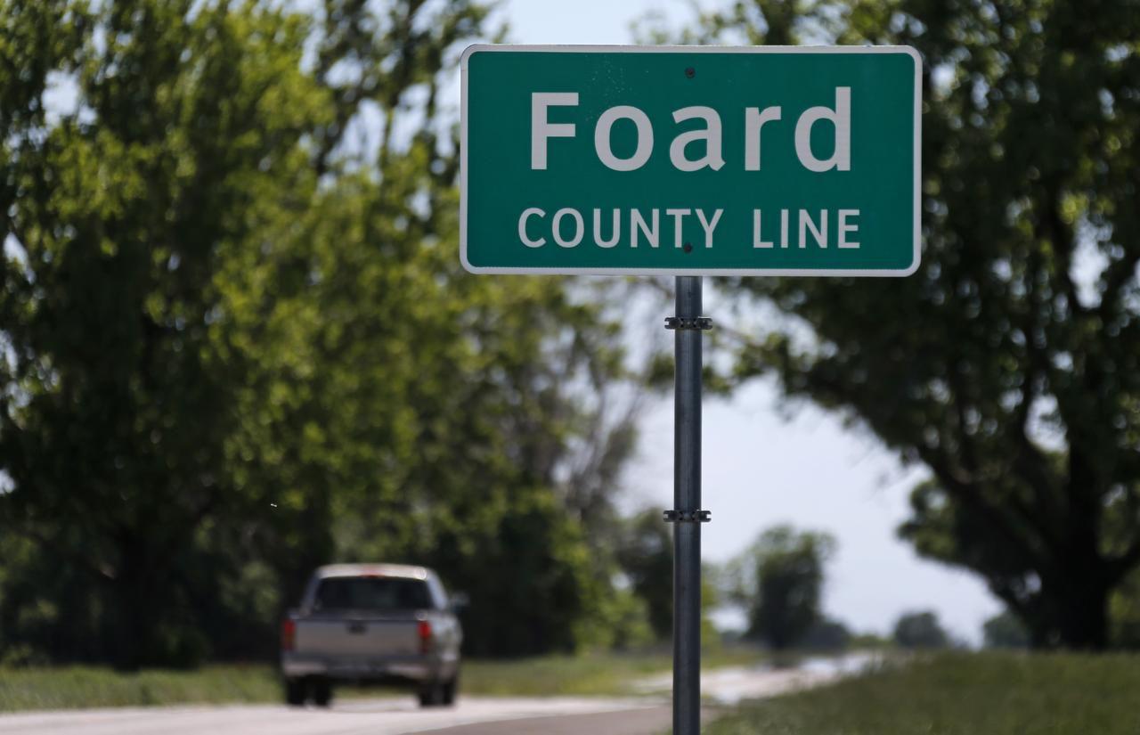 Entering Foard County along Highway 70 east of Crowell, nortwest of Wichita Falls.