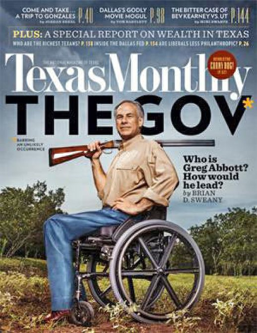 In the October issue of Texas Monthly, Attorney Gen. Greg Abbott, who is running in the Republican primary for governor, promotes gun rights. He has company in other GOP candidates for statewide offices.