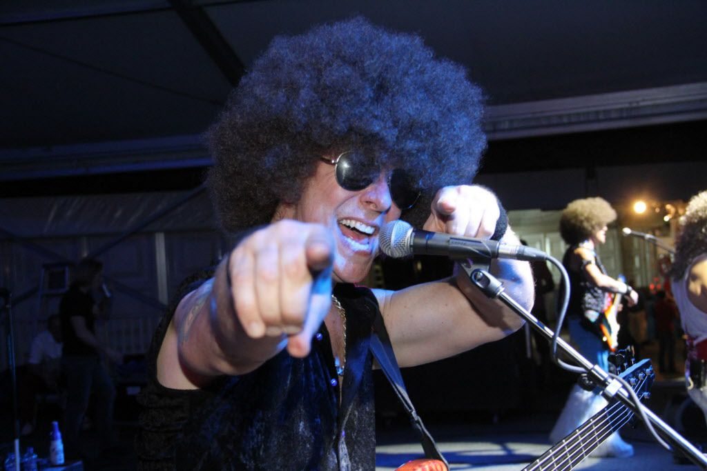 Curly Brown of Le Freak provided entertainment for the after party Saturday.