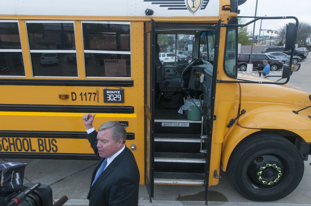 In April 2014, Dallas County Schools superintendent Rick Sorrells gave an interview about the Bus Guard System at the agency's headquarters.