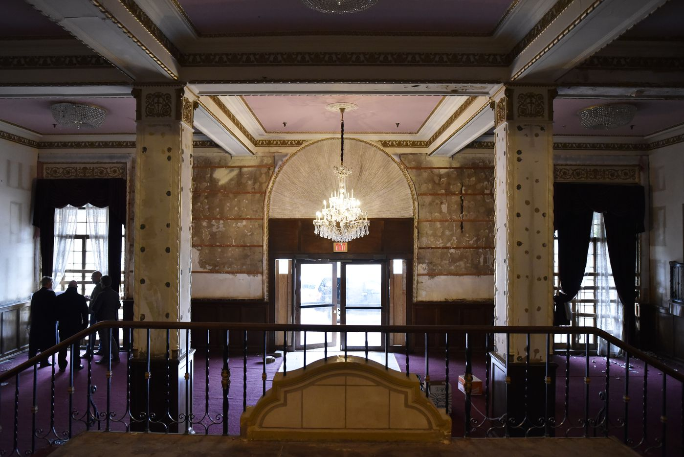 The main lobby is seen during a tour of the historic Ambassador Hotel in the Cedars neighborhood of Dallas on Jan. 30, 2019.