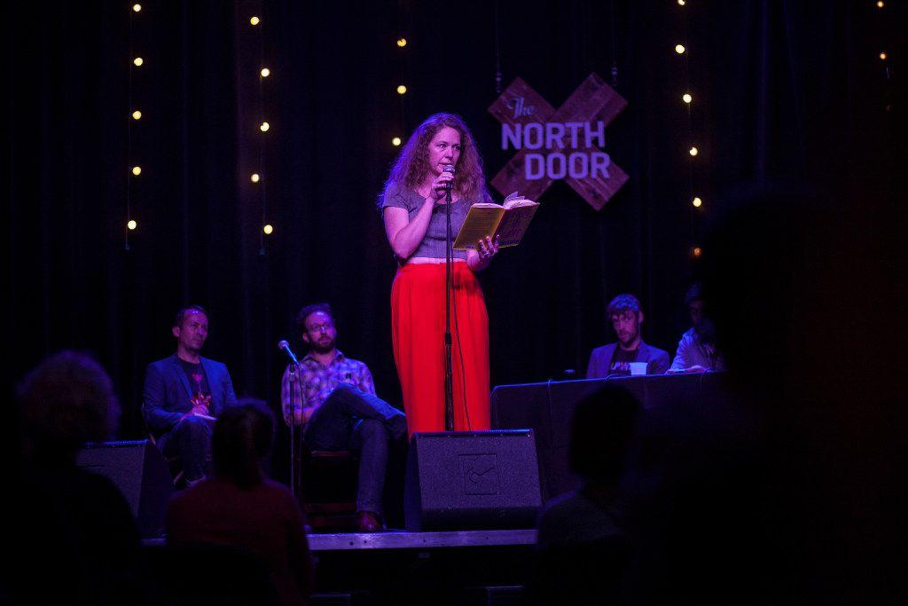 Amy Gentry reads a piece she wrote during the Lit Crawl Austin event in November 2016 at the North Door venue in Austin. The author's new book, Last Woman Standing, hit store shelves Jan. 10.