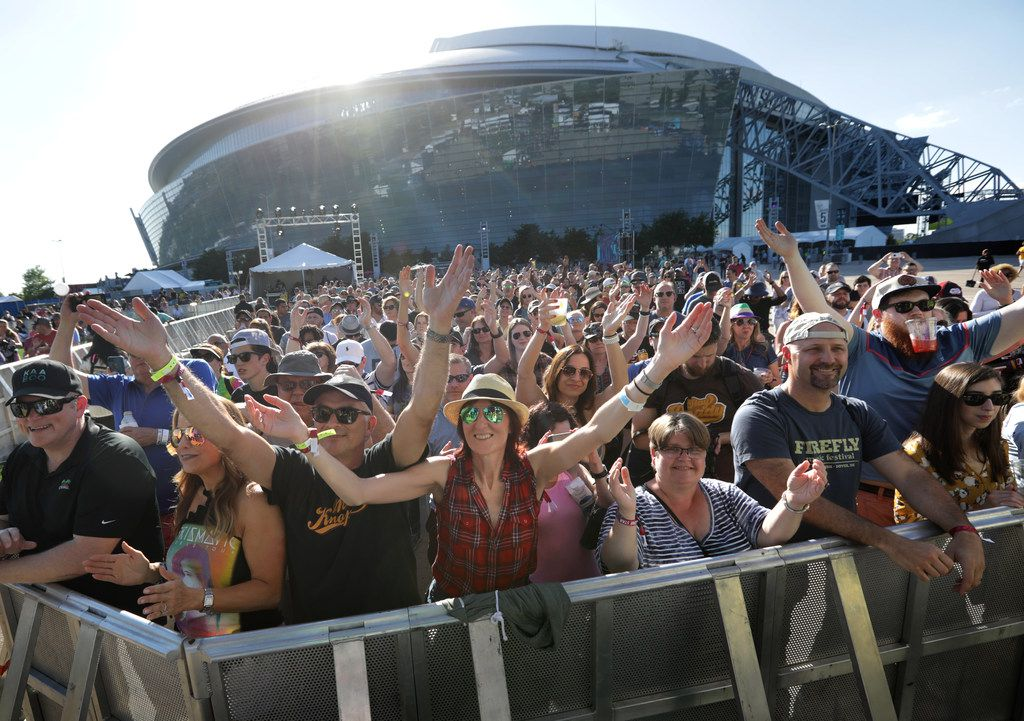Fans cheer as Trombone Shorty performs during Kaaboo Texas at AT&T Stadium in Arlington, TX, on May 12, 2019. (Jason Janik/Special Contributor)