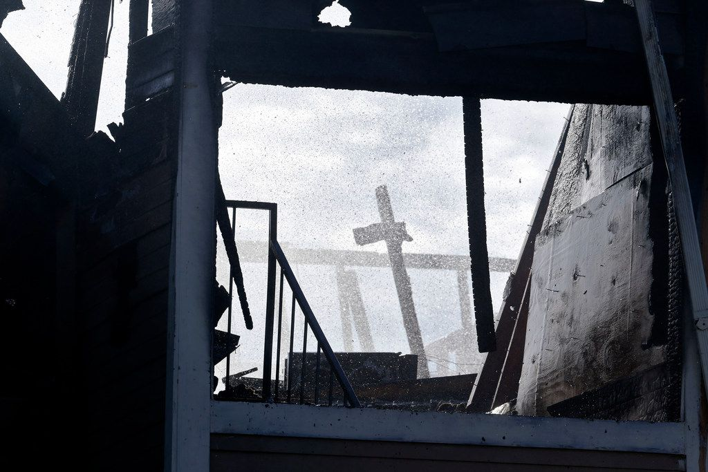 Nothing but wreckage is left in the wake of a fire that at an apartment building in Far East Dallas on Wednesday morning.
