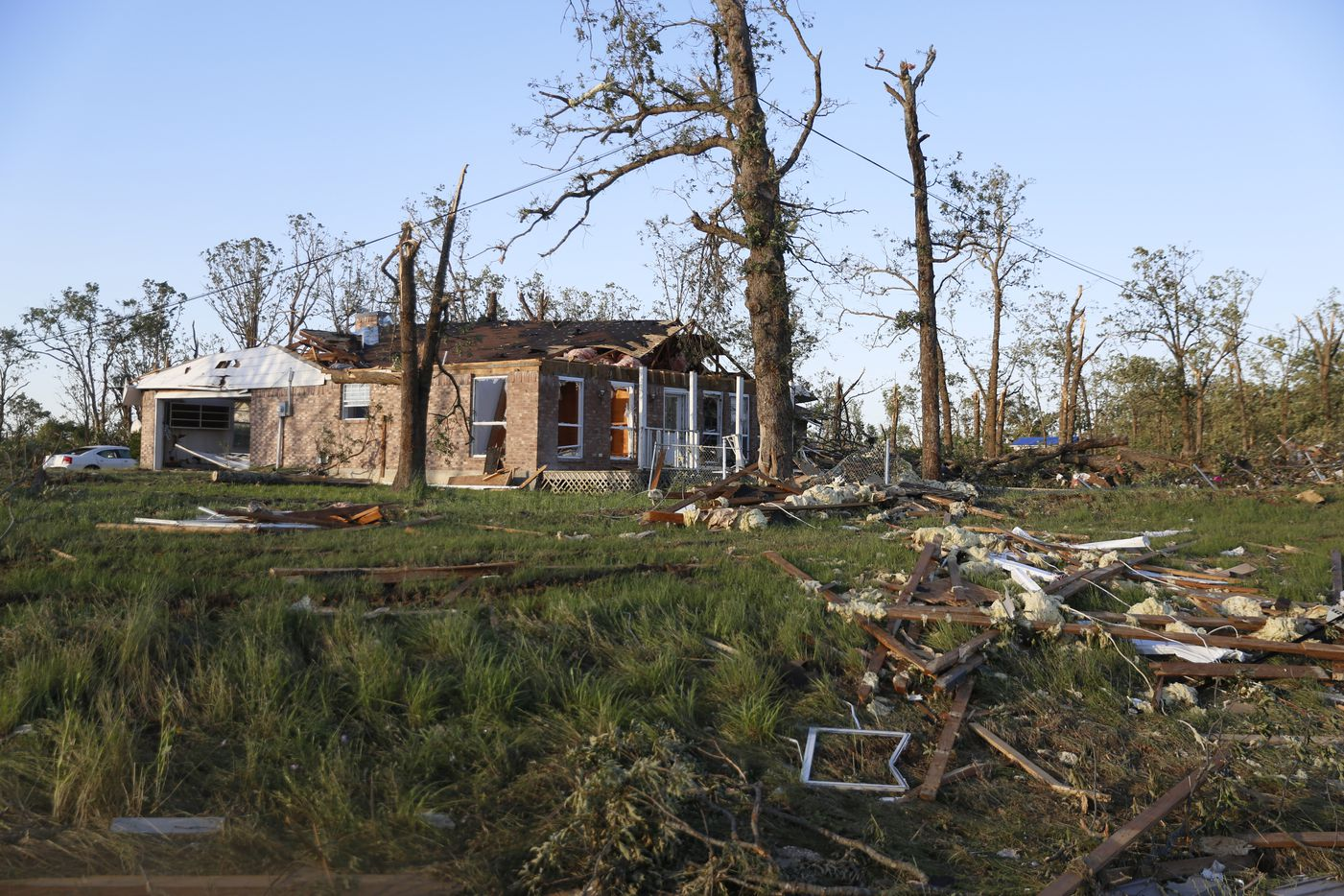 One of the houses off Highway 69 in Emory in the aftermath of a tornado, photographed on Sunday April 30, 2017. Several houses in the neighborhood were hit by a tornado Saturday April, 29, 2017. According to authorities working the scene, no one was injured.