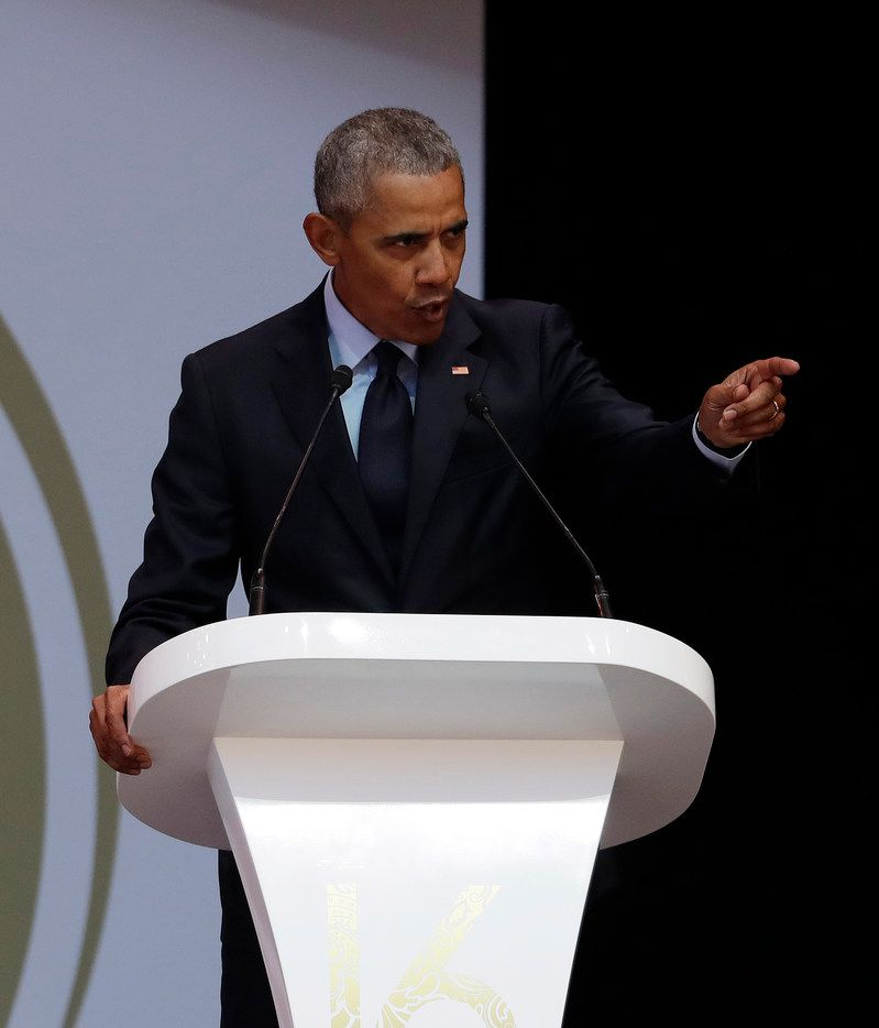 Former President Barack Obama delivered the 16th Annual Nelson Mandela Lecture last month at the Wanderers Stadium in Johannesburg, South Africa.