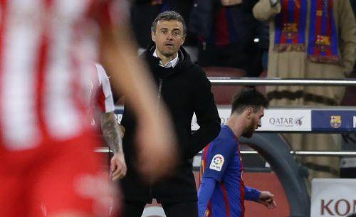 Luis Enrique anunció que dejará el Barça al final de la temporada. Foto AP