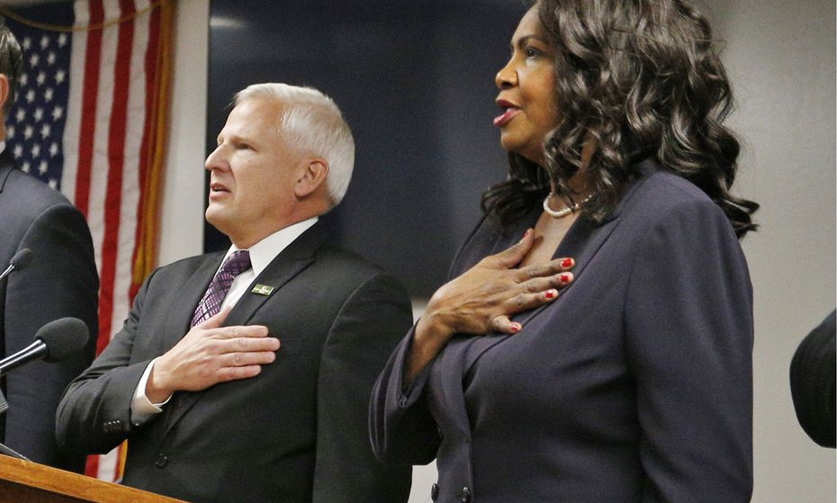 Residents have wondered whether former DA Faith Johnson's warm political relationship with Cedar Hill Mayor Rob Franke compromised her office's investigation of him and other town officials. She also lives in the Dallas suburb. (File Photo/The Dallas Morning News)
