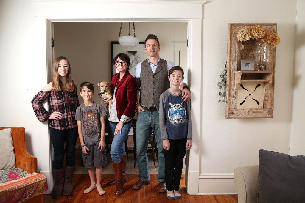 The Ettiene family in their new home of 1,400 square feet in McKinney.