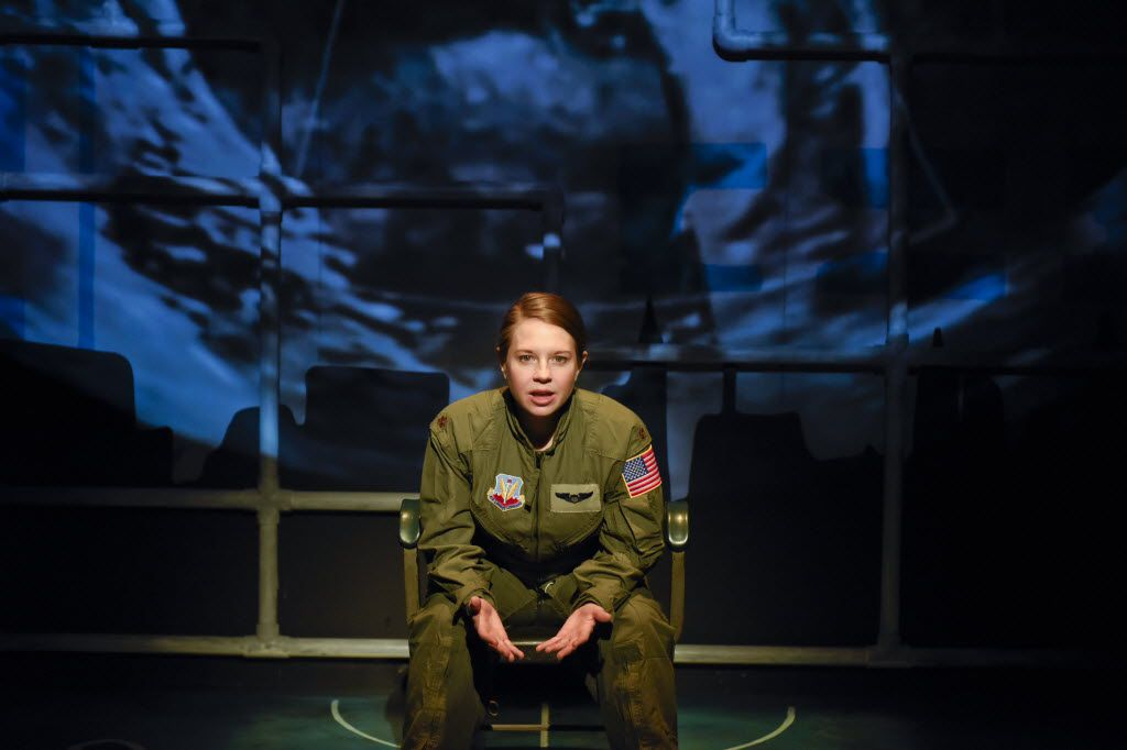 Jenny Ledel performs in the one-woman show, 'Grounded,' for Second Thought Theatre at Bryant Hall on the Kalita Humphreys Campus in Dallas Jan. 11-Feb. 4, 2017.has