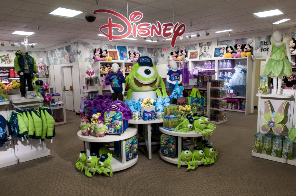One of the first Disney shops installed inside a J.C. Penney store.