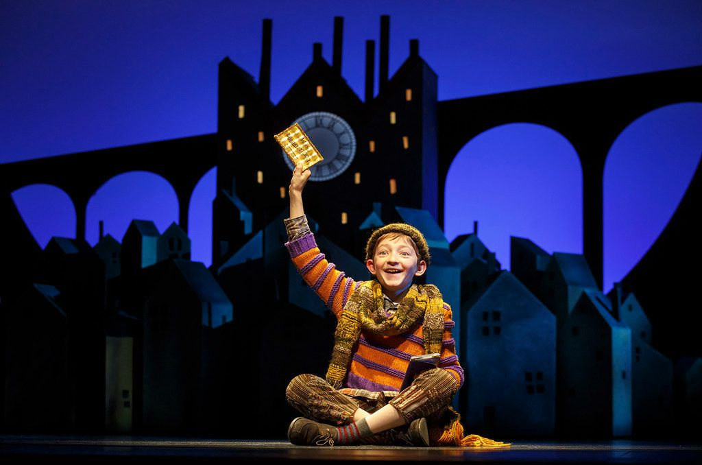 Ryan Foust performed as Charlie Bucket in Charlie and the Chocolate Factory in 2017 in New York City.