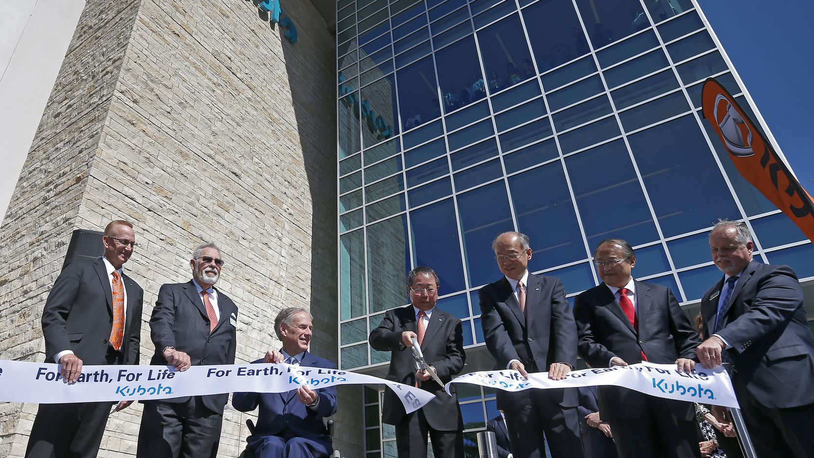 Gov. Greg Abbott celebrated the April opening of Kubota's new headquarters in Grapevine, a project slated to get almost $4 million from the Texas Enterprise Fund.(Jae S. Lee/The Dallas Morning News)