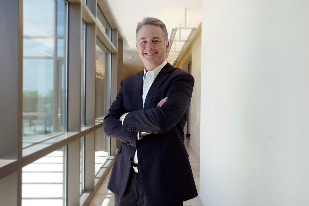 Tyler Technologies CEO Lynn Moore in his office in Plano, Texas, on Thursday, June 25, 2019.