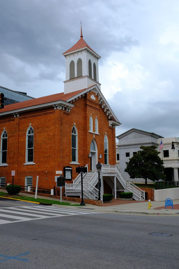 The Dexter Avenue Baptist Church, just a block from the Alabama State Capitol.