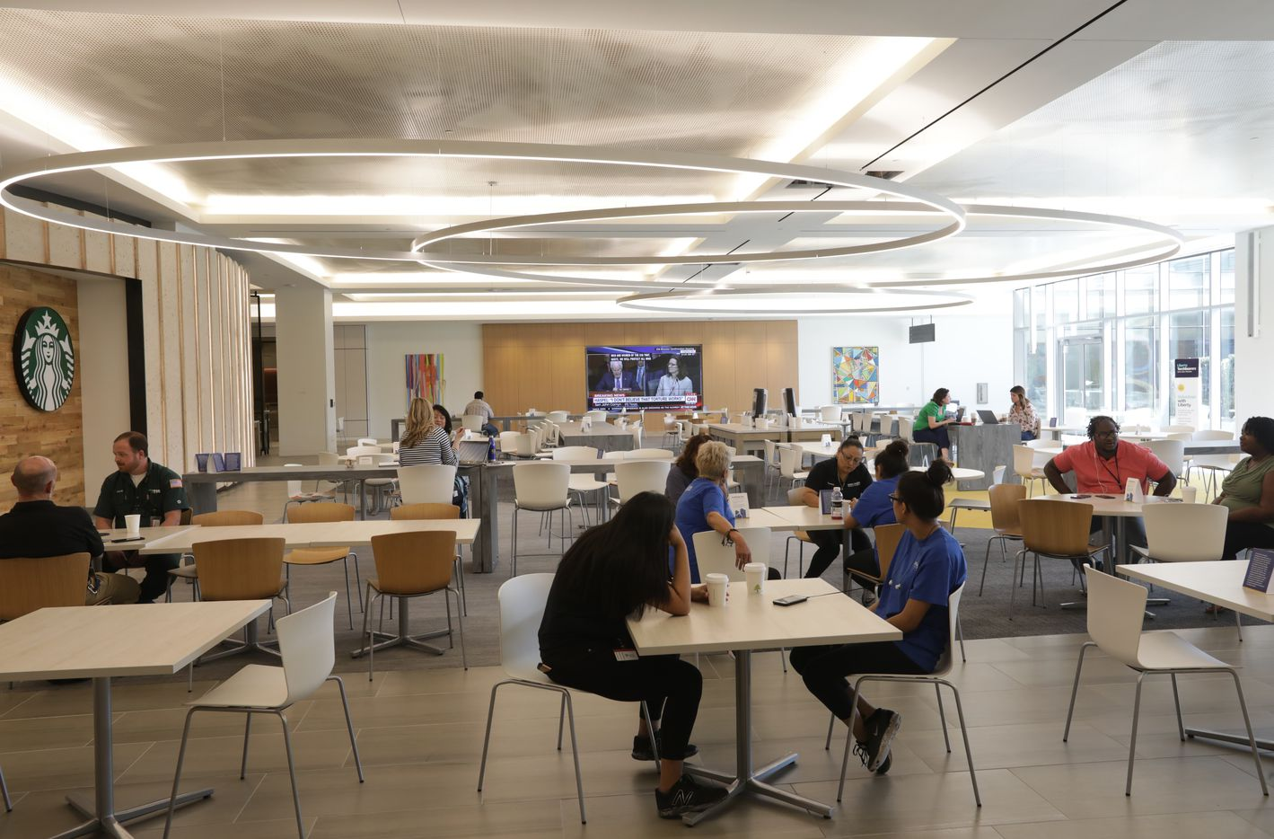 Employees at Liberty Mutual Insurance's new Plano office have a whole floor of dining options.