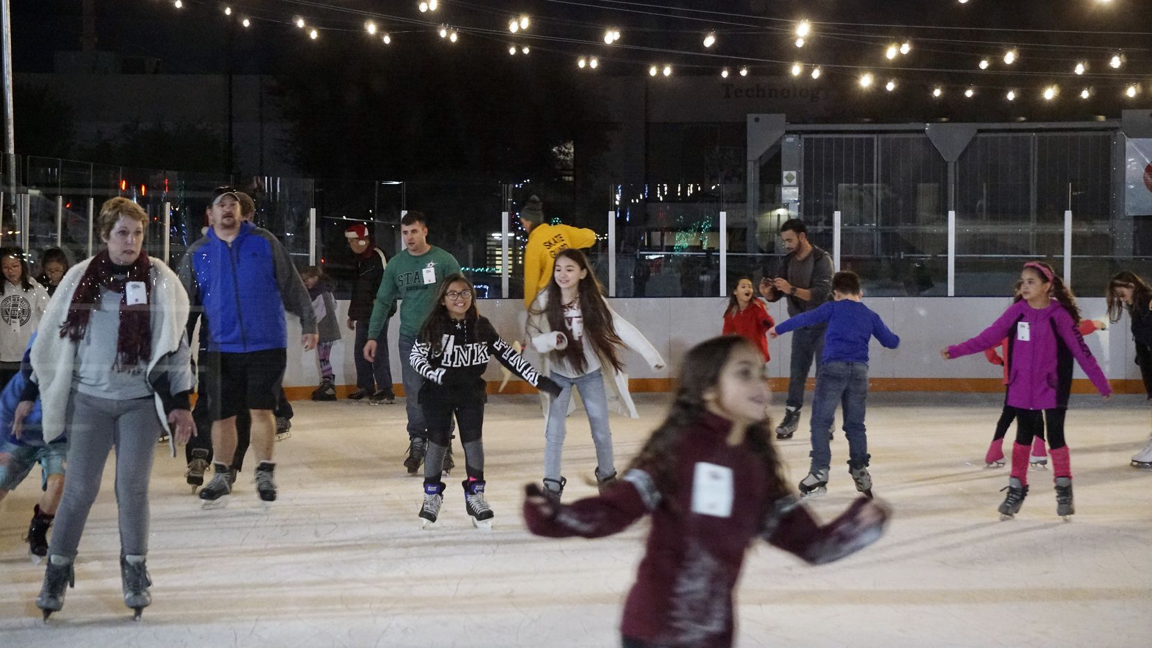 The ice skating rink was busy at Christmas in the Branch in Farmers Branch.