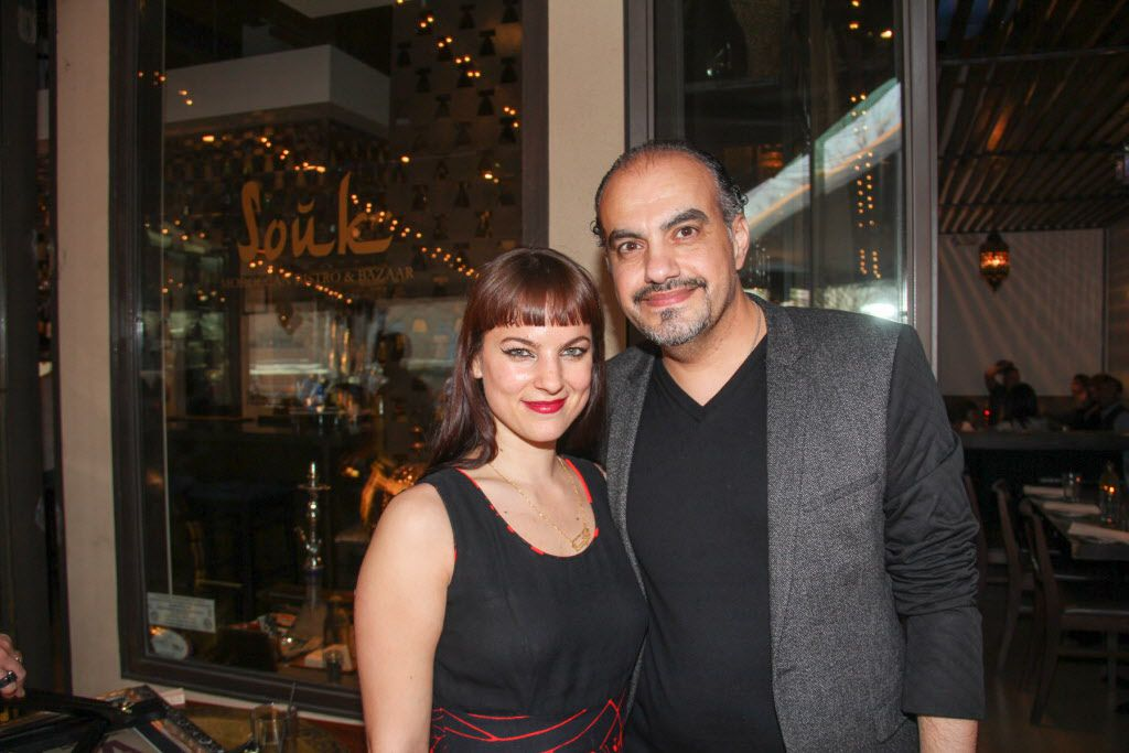 Souk owner Yaser Khala and Alia Mohamed at Luckapalooza in Trinity Groves on March 22, 2015. Souk and another Luck neighbor, Chino Chinatown, participated in Luckapalooza.