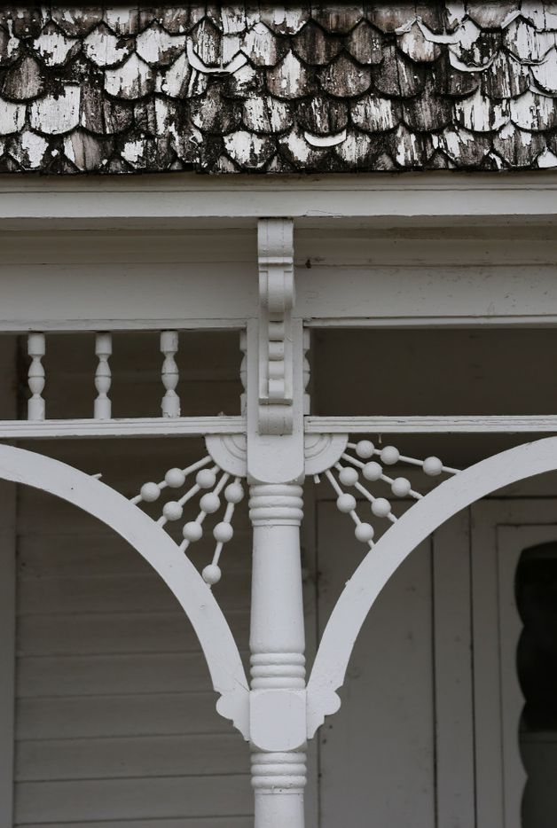 A detail of a house at 1923 N. Edgefield Avenue in West Dallas