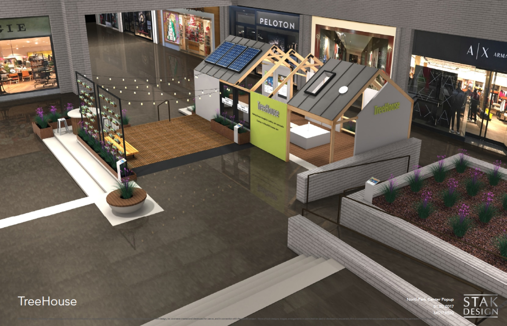 TreeHouse plans to introduce itself to Dallas with this 1,000-square-foot house display featuring products it sells inside NorthPark Center for two months starting April 1, 2017.
