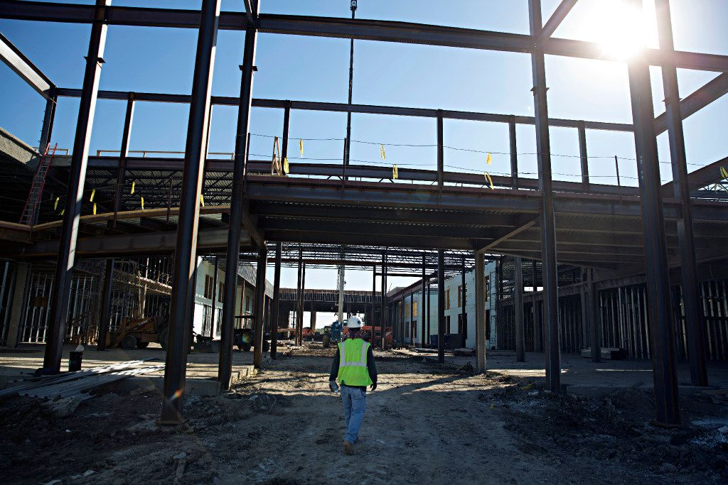 Construction continues at Memorial High School in Frisco ISD.