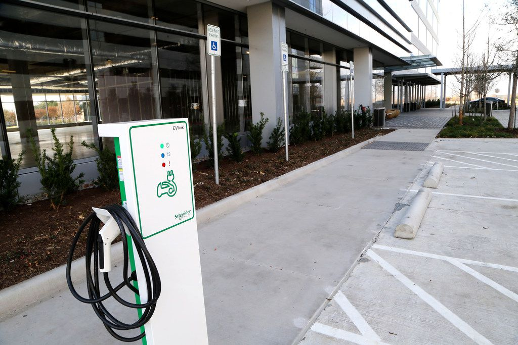 The Frisco Station development will feature charging stations for electric cars in Frisco on Saturday, December 4, 2017. (Stewart F. House/Special Contributor)