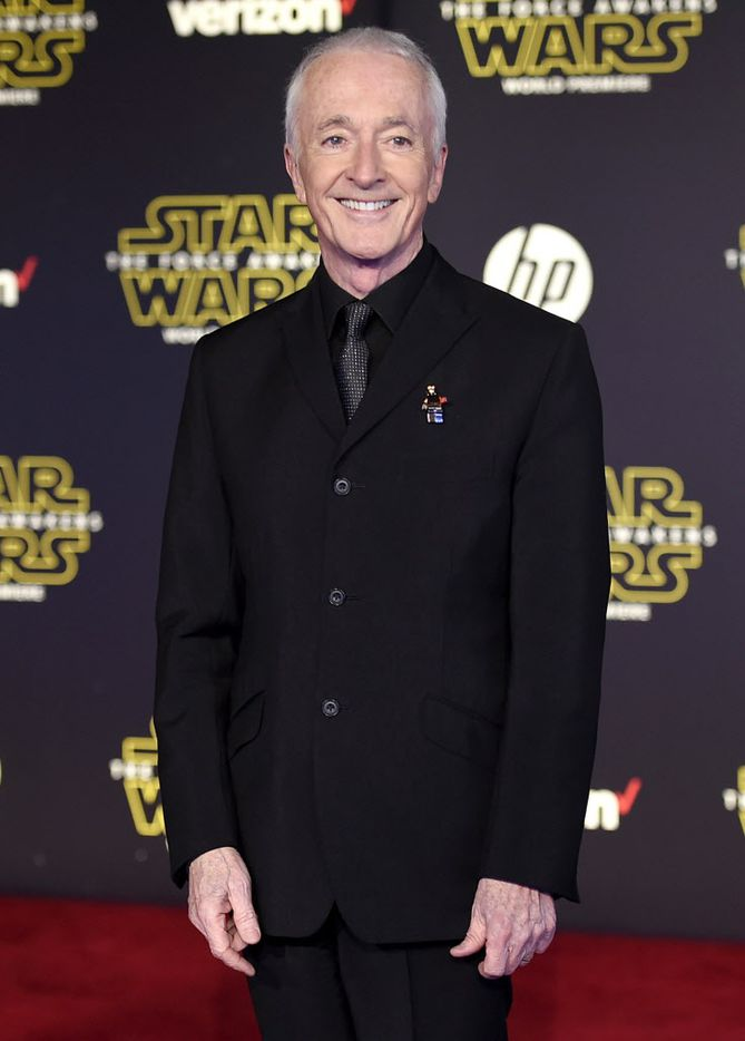 """Anthony Daniels arrives at the world premiere of """"Star Wars: The Force Awakens"""" at the TCL Chinese Theatre on Monday, Dec. 14, 2015, in Los Angeles. Daniels plays the role of C-3PO."""