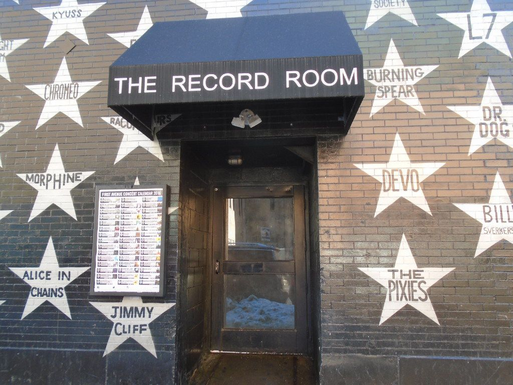 First Avenue, a nightclub beloved by Prince, has outer walls covered in stars saluting people who have performed here.