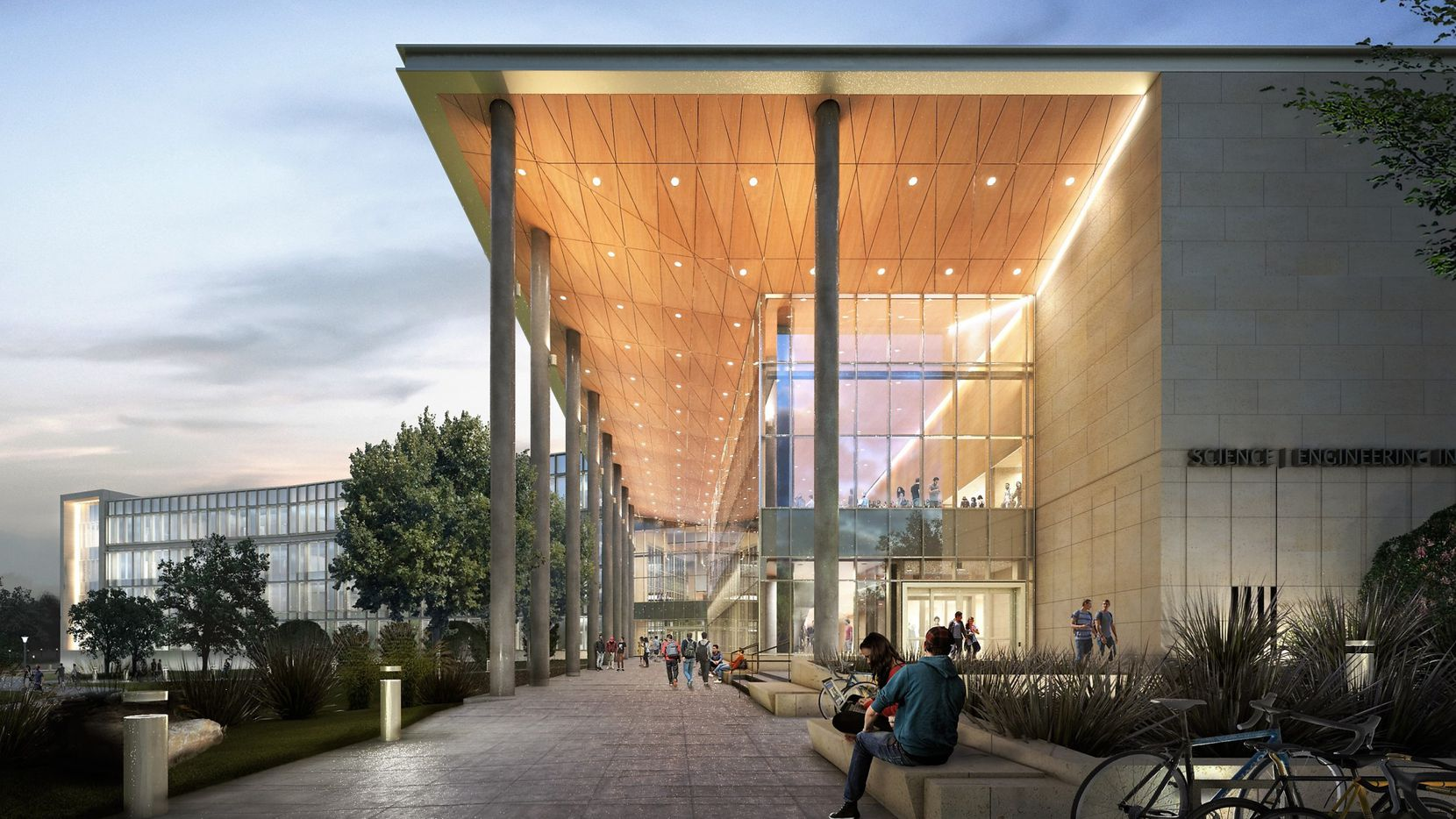 The Science and Engineering Innovation and Research building is scheduled to open sometime in 2018 and will be home to several disciplines. (Illustration from University of Texas at Arlington)