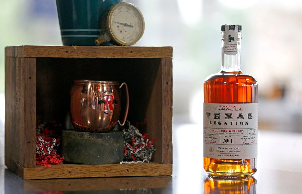 Texas Legation Batch No.1 Bourbon Whiskey is the bottle of whiskey that Ironroot Republic Distilling exports to the UK in Denison, Texas, Tuesday, June 12, 2018.  (Jae S. Lee/The Dallas Morning News)