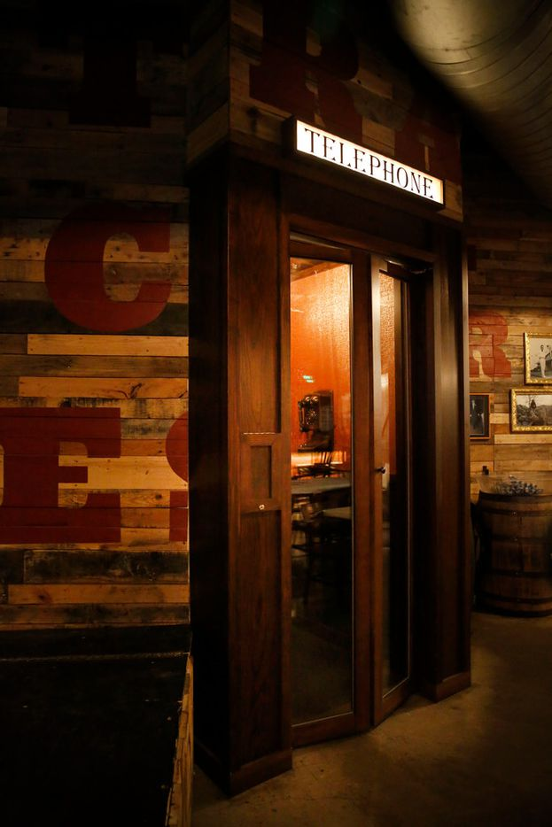 The entrance to The Volstead Room speakeasy in Lewisville, Texas on Friday, March 16, 2018.