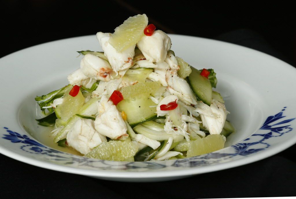 Blue crab salad with celery, fennel, cucumber, lime and Thai chile at Mot Hai Ba