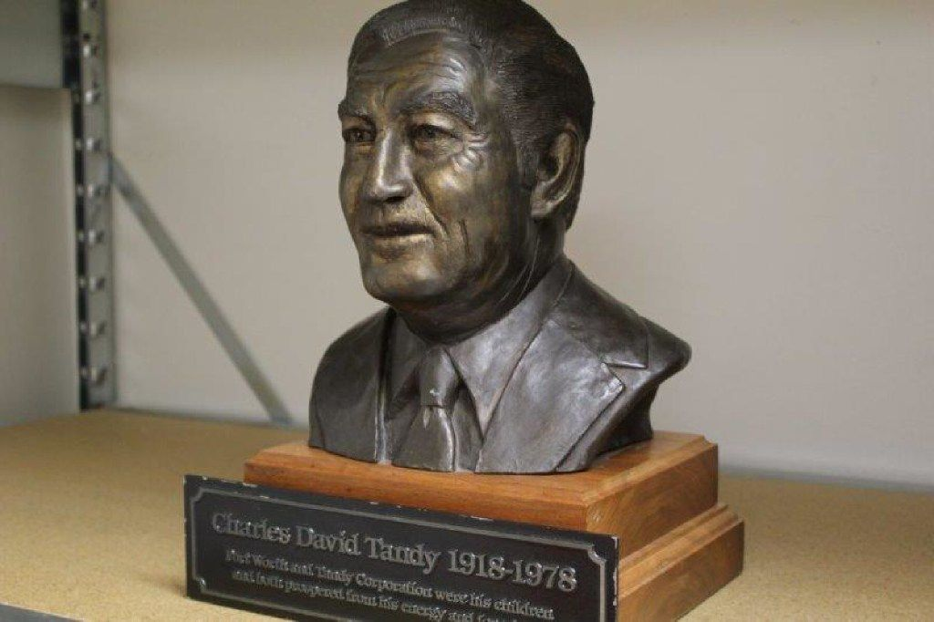 A bronze bust of Charles Tandy, longtime chairman and CEO of Tandy Corp., is also on the auction block.