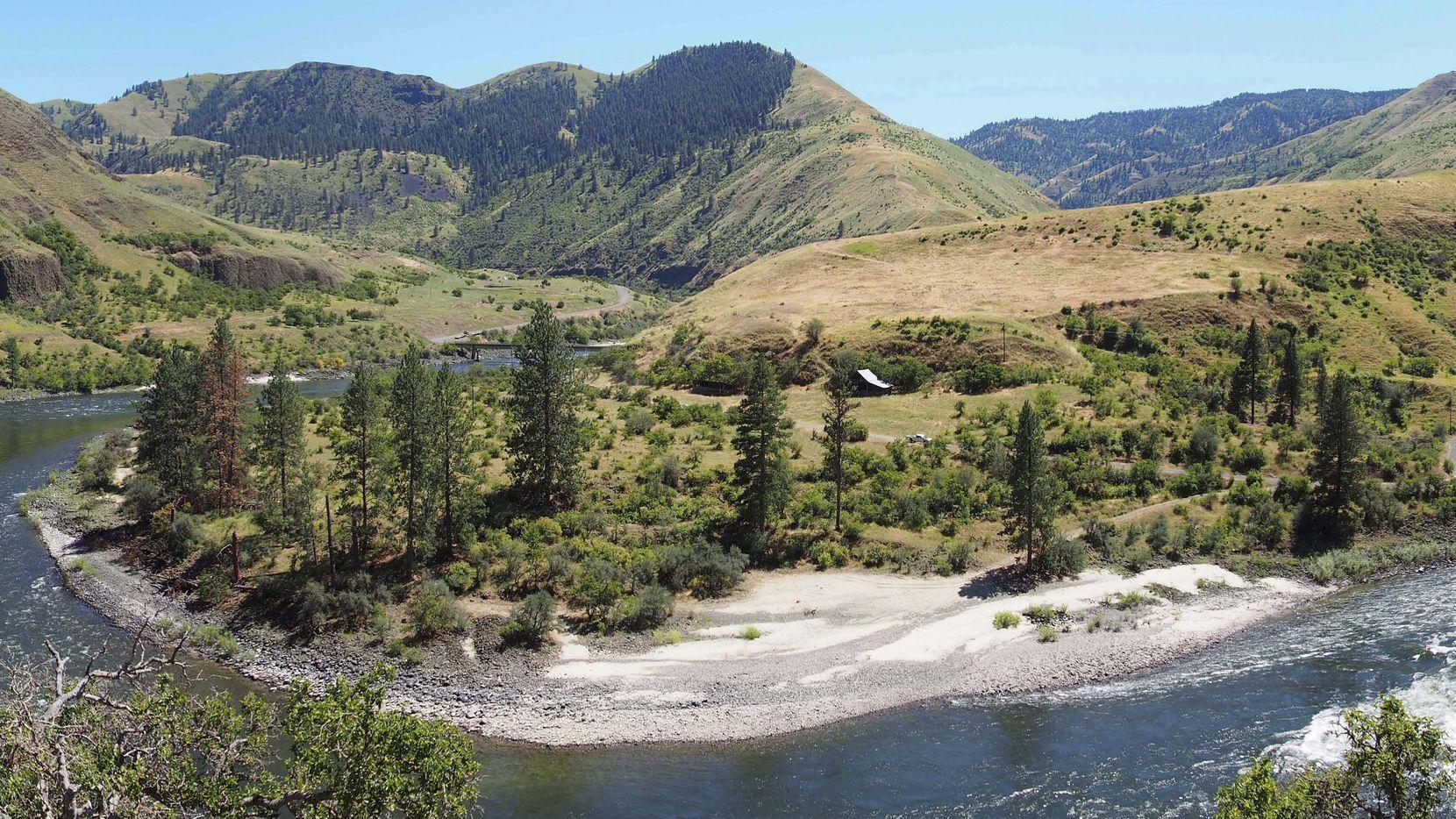 El área del Cooper's Ferry Canyon al oeste de Idaho.