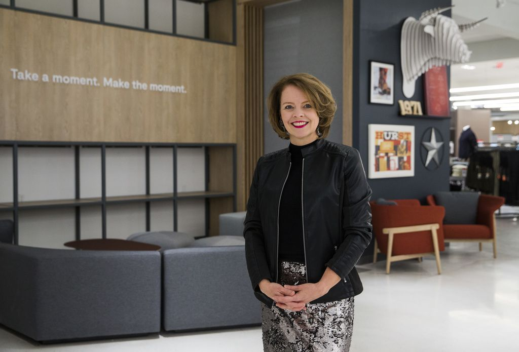 JCPenney CEO Jill Soltau poses for a photo in a JCPenney store on Wednesday, October 30, 2019 at North East Mall in Hurst. (Ashley Landis/The Dallas Morning News)