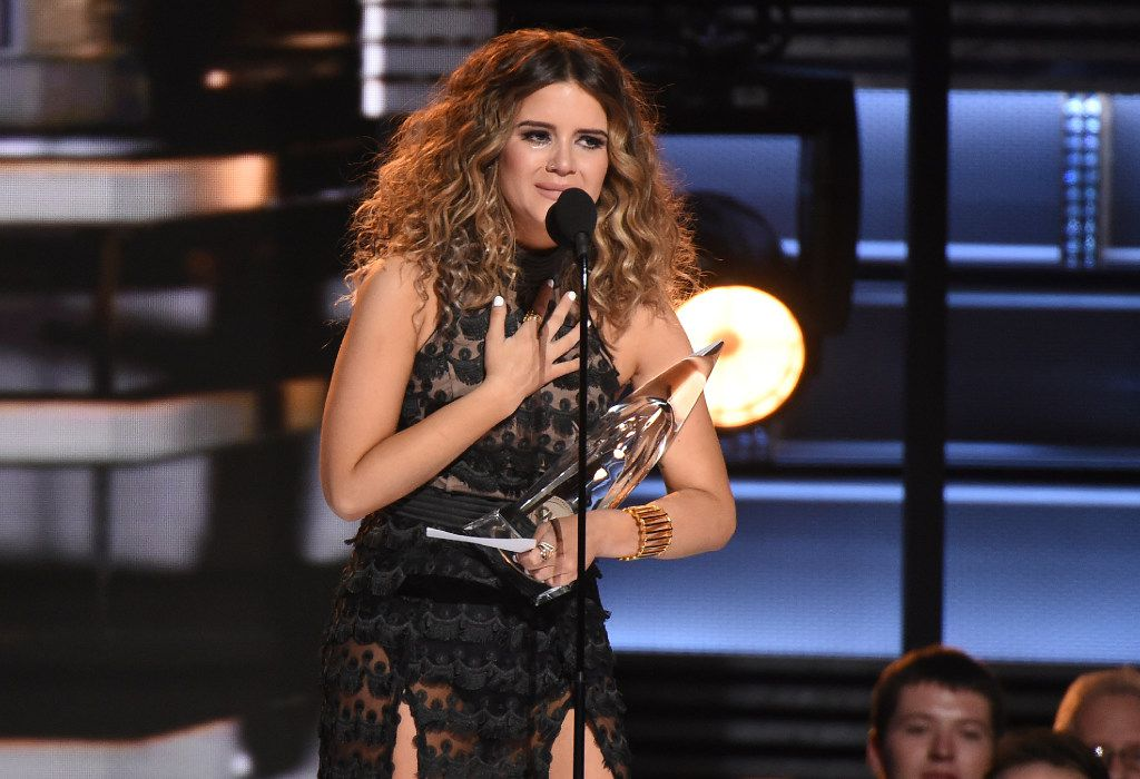 Maren Morris won New Artist of the Year at the 50th annual CMA Awards at the Bridgestone Arena in Nashville, Tenn., in 2016. Maren Morris is from Arlington, Texas.