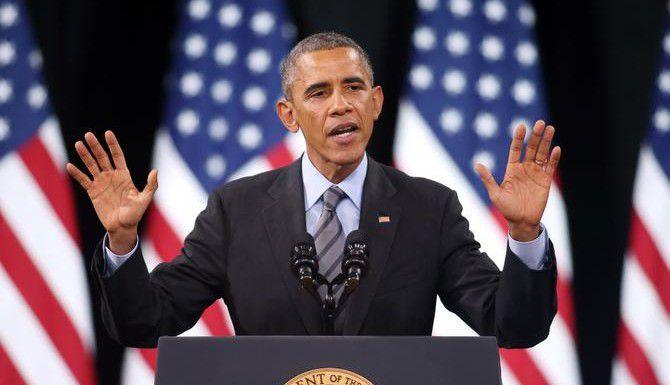 El presidente Obama durante el discurso en el que anunció la nueva acción diferida para padres de niños nacidos en Estados Unidos. (AP/ISAAC BREKKEN)