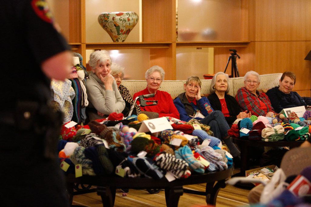 Members of the knitting group at The Legacy Willow Bend retirement community gathered in 2016. The Legacy Senior Communities is building a new project called Legacy at Midtown Park.