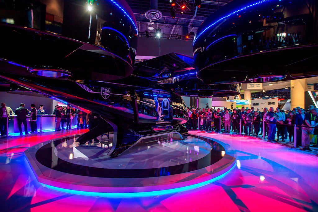 Conference attendees at CES, an annual trade show organized by the Consumer Technology Association, could sit in the prototype of Bell Nexus and take flight through a virtual reality experience.
