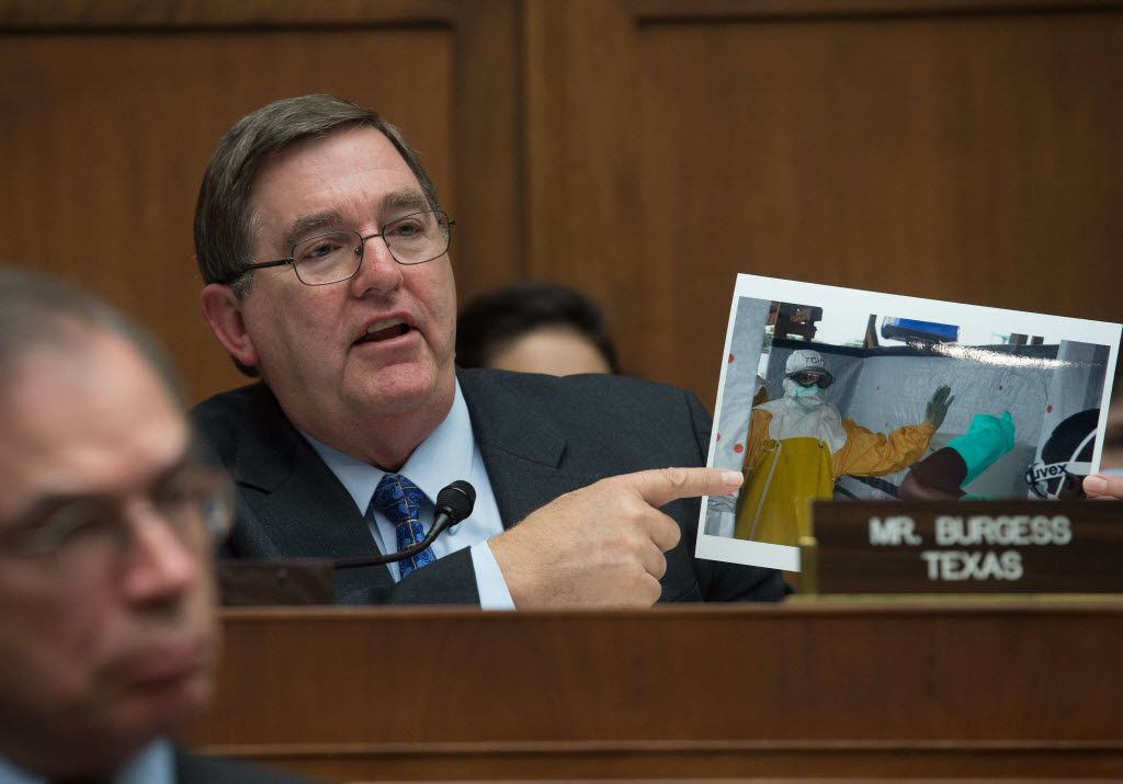 Rep. Michael Burgess, R-Lewisville, speaks in October at a hearing on the federal response to Ebola. (Nicholas Kamm/AFP/Getty)