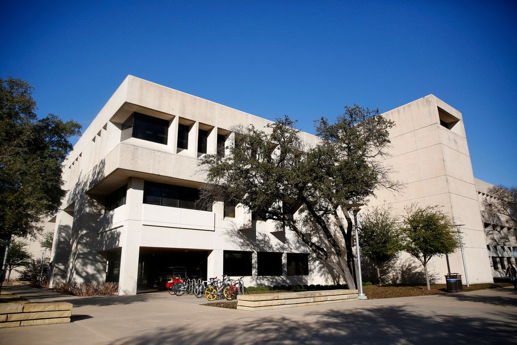 Police officers enrolled in the special master's program took some classes in this building on the Richardson-based campus of the University of Texas at Dallas. Investigators found that some students were told they would receive A's in some courses despite not needing to attend any classes.