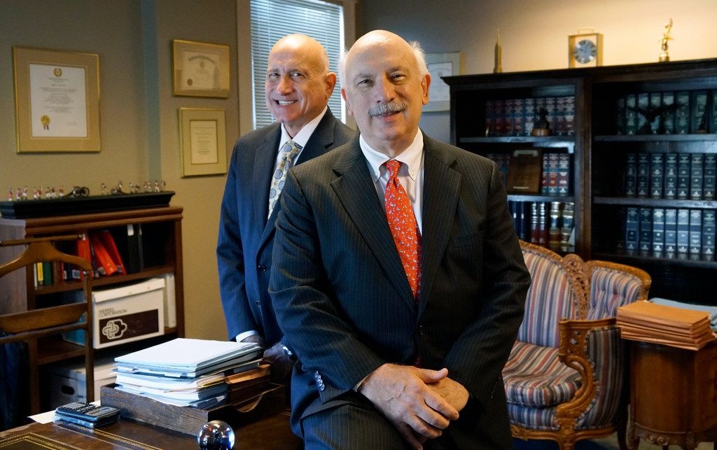 Stephen and Andrew Stasio are shown in their downtown law office in Fort Worth on Tuesday, July 30, 2019. Their father, Andy Stasio,  opened the first Shakey's Pizza Parlor in DFW in the 1960s.