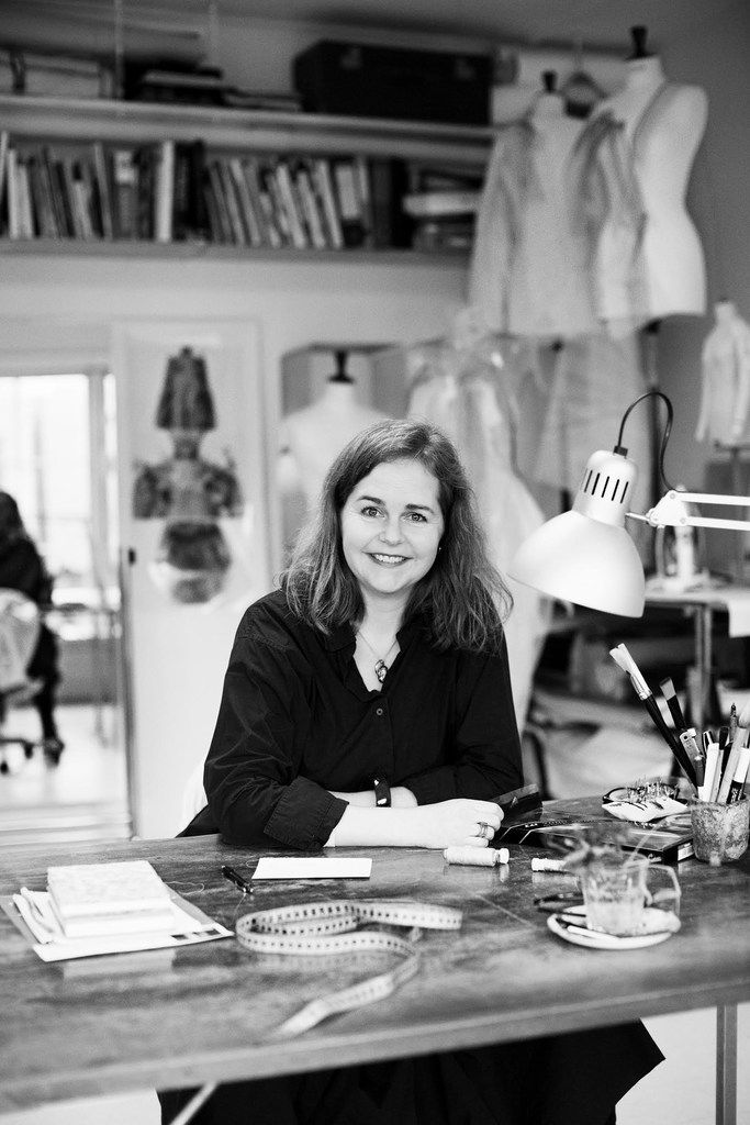 Anne Damgaard says she wanted to be a sculptor or a painter but felt more comfortable and familiar attending design school because her entire family worked in textile or fashion businesses.