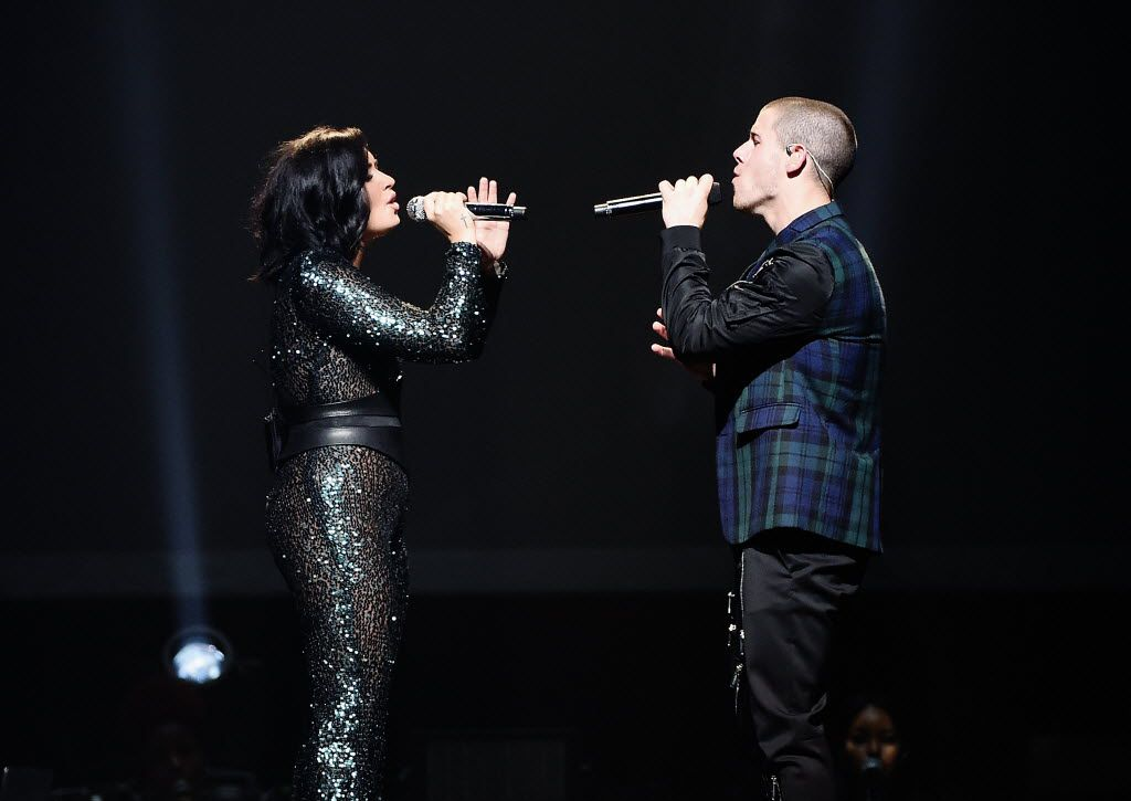 Demi Lovato, Nick Jonas perform during the '2016 Honda Civic Tour Featuring Demi Lovato & Nick Jonas: Future Now' tour at the Barclays Center on July 8, 2016 in New York City