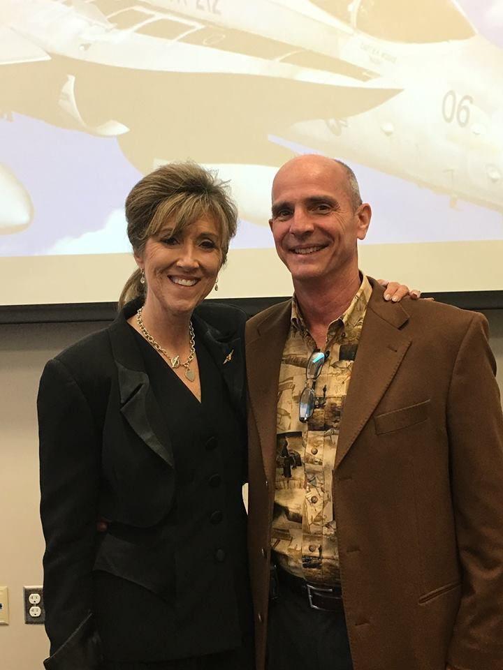 Tammie Jo and  Dean Shults attended an alumni event for Tammie Jo's alma mater. They are both pilots for Southwest Airlines. (Courtesy of MidAmerica Nazarene University)