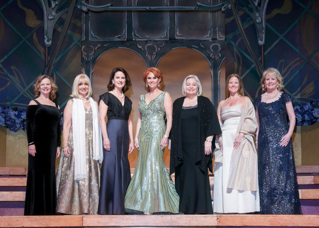The 31st Annual Dallas Symphony Orchestra League Presentation Ball committee: Ginger Sager, Therese Rourk, Lissie Donosky, ball chair Jolie Humphrey, DSOL president Sandy Secor, Eleanor Bond and Dixey Arterburn.