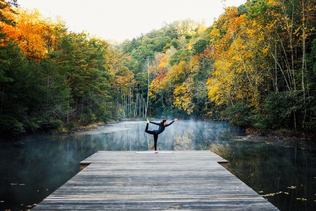 Guests at Blackberry Mountain will find ample opportunities for yoga and other wellness activities.